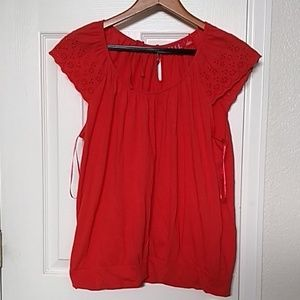 Elle red blouse